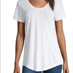 a.n.a • White Tee Short Sleeve Round Hem Basic